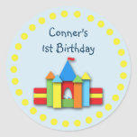 Bouncy Bithday Invitation Seal or Address Label Round Sticker
