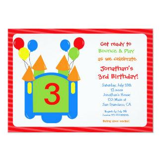 Bouncy Bounce House Birthday Invitation