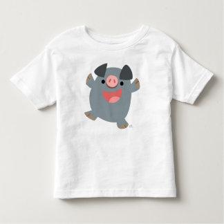 Bouncy Cartoon Pig children T-shirt