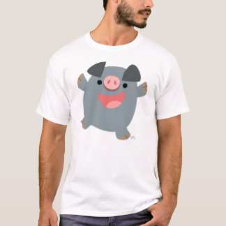 Bouncy Cartoon Pig T-shirt