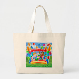 Bouncy Castle Fun Large Tote Bag