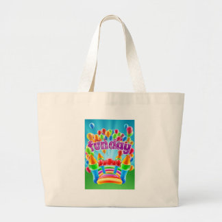 Bouncy Castle Funday Design Large Tote Bag