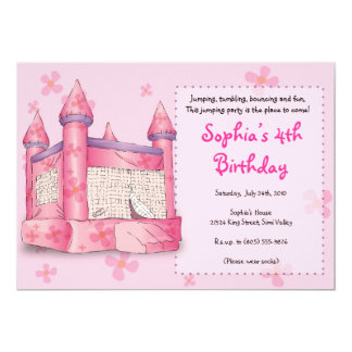 Bouncy Fun - for Girls! Personalized Invite