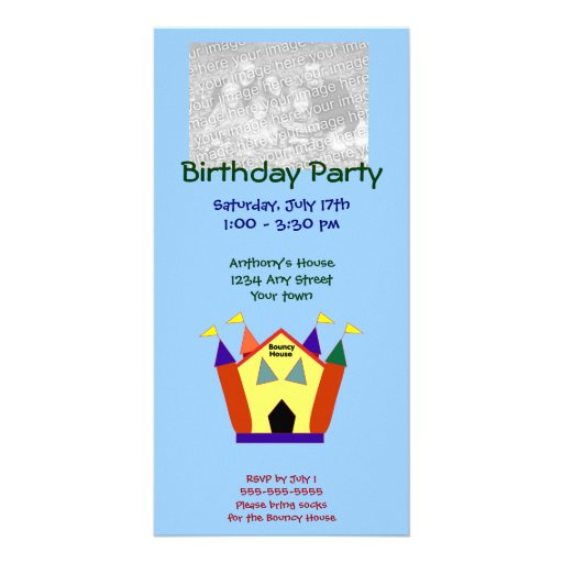 Bouncy House Birthday Party Photo Cards