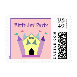 Bouncy House Birthday Party Postage