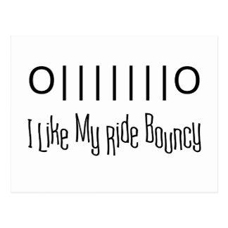Bouncy Ride Postcard