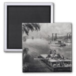 Bound Down the River 2 Inch Square Magnet