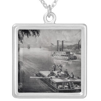 Bound Down the River Silver Plated Necklace