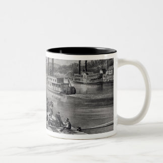 Bound Down the River Two-Tone Coffee Mug