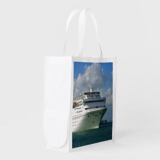 Bound for Fun Passenger Ship Reusable Grocery Bag