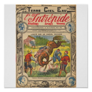 Bound Hand and Foot on a Savage Horse Posters