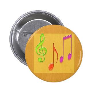 Bound to Sound Good -  Dancing Music Symbols Button