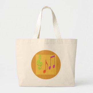 Bound to Sound Good -  Dancing Music Symbols Jumbo Tote Bag
