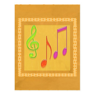 Bound to Sound Good - Dancing Music Symbols Postcards