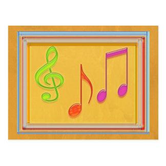 Bound to Sound Good - Dancing Music Symbols Post Card