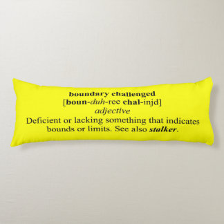 BOUNDARY CHALLENGED BODY PILLOW