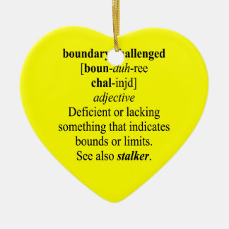 BOUNDARY CHALLENGED Double-Sided HEART CERAMIC CHRISTMAS ORNAMENT