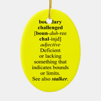 BOUNDARY CHALLENGED Double-Sided OVAL CERAMIC CHRISTMAS ORNAMENT