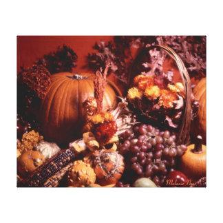 Bountiful Blessings Fall Scene Canvas Print