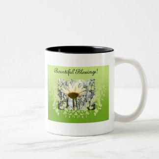 Bountiful Blessings Mug! Two-Tone Coffee Mug