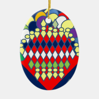 bountiful bouquet-page0001.jpg Double-Sided oval ceramic christmas ornament