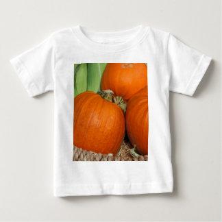 Bountiful Fall Harvest Orange Pumpkins and Corn Baby T-Shirt
