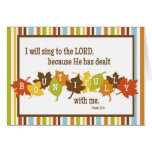 BOUNTIFUL Folded Scripture Thanksgiving Card-BLANK