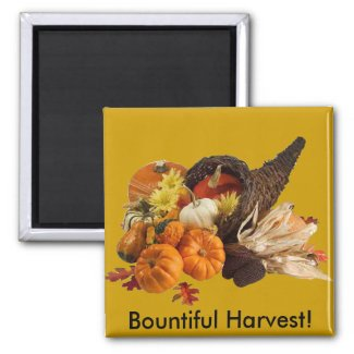 Bountiful Harvest Cornucopia Magnet