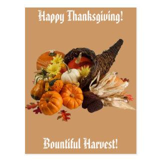 Bountiful Harvest Cornucopia Postcard