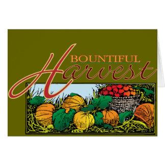 Bountiful Harvest Greeting Card