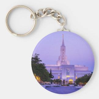 Bountiful LDS Mormon Temple Sunrise - Utah Keychain
