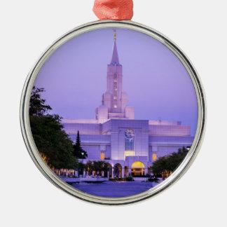 Bountiful LDS Mormon Temple Sunrise - Utah Metal Ornament