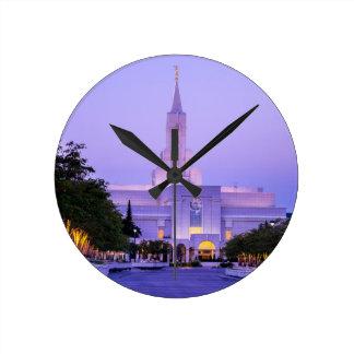 Bountiful LDS Mormon Temple Sunrise - Utah Round Clock
