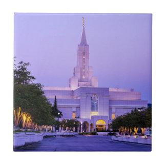 Bountiful LDS Mormon Temple Sunrise - Utah Tile