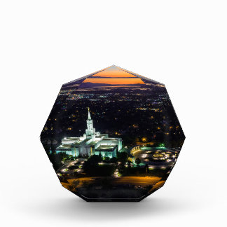 Bountiful Lds Mormon Temple Sunset Acrylic Award