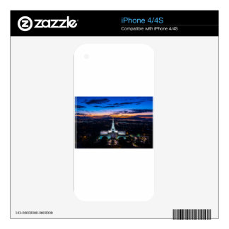 Bountiful Lds Mormon Temple Sunset Decal For The iPhone 4S