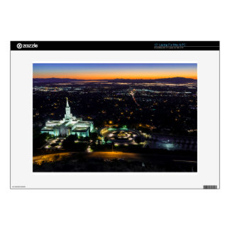 """Bountiful Lds Mormon Temple Sunset Decals For 15"""" Laptops"""