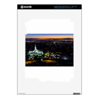 Bountiful Lds Mormon Temple Sunset Decals For iPad 3