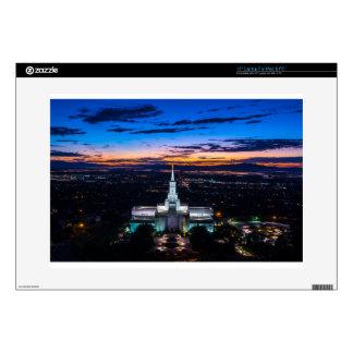 Bountiful Lds Mormon Temple Sunset Laptop Decal