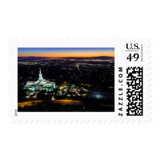 Bountiful Lds Mormon Temple Sunset Postage