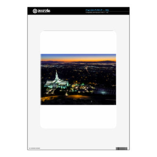 Bountiful Lds Mormon Temple Sunset Skin For iPad