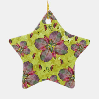 Bountiful Leaves Ceramic Ornament