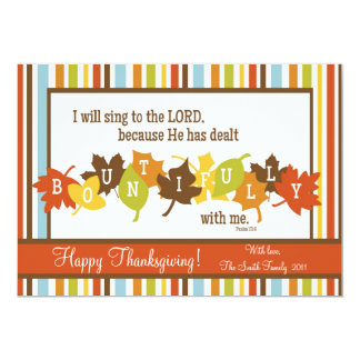 BOUNTIFUL Scripture Thanksgiving Card-Customize It Card