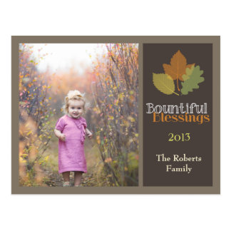 Bountiful Thanksgiving Photo Card Postcard