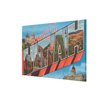 Bountiful, Utah - Large Letter Scenes Canvas Print