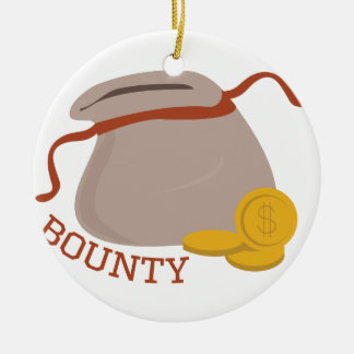 Bounty Double-Sided Ceramic Round Christmas Ornament