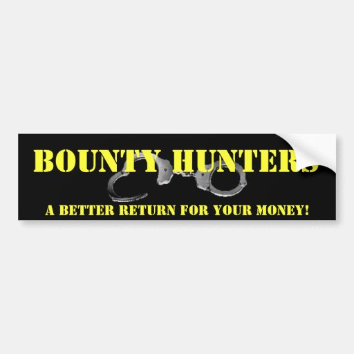 Bounty Hunter Bumper Sticker