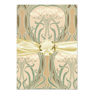 bounty of the earth art nouveau design card