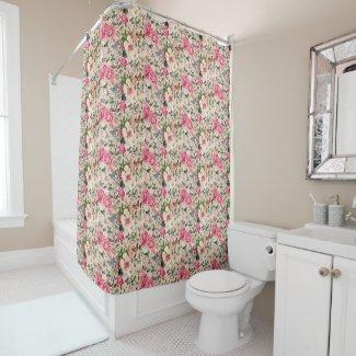 Bountyful Garden Custom Color Shower Curtain