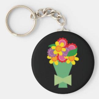 bouquet2 basic round button keychain
